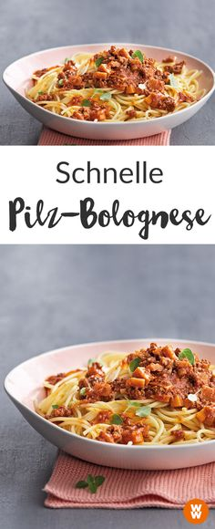 Pasta I Spaghetti I Bolognese I WW Rezept I Weight Watchers Rezept I Weight Watchers