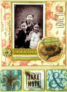 Love This Misc Me Pages by Irene Tan using BoBunny Garden Journal Collection #BoBunny @Ire
