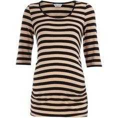 Black/nude stripe maternity top, found on polyvore.com