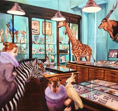 Sala Lieber | Das Zebra | Serie Darwins Enkeltöchter | 2019 | Öl auf Leinwand | 150 x 140 cm Tumblr, Darwin, Painting, Art, Oil On Canvas, Sparkle, Art Production, Art Background, Painting Art