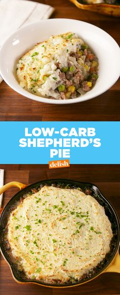This Shepherd's Pie has a low-carb secret. Get the recipe at Delish.com. #shepherdspie #lowcarb #nocarb #recipes #easyrecipe #delish