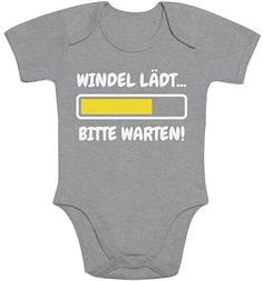 Diaper Loading, Please Wait! Funny Baby Clothes, Funny Babies, Baby Party, Baby Shower Parties, Shower Party, Baby Outfits, Body Suit With Shorts, Baby Presents, Baby Kind