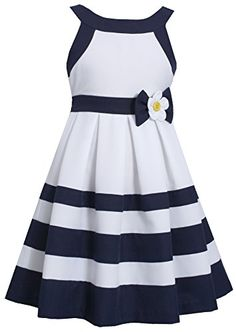 Bonnie Jean® Nautical Dress - Girls found at Holiday Dresses, Holiday Outfits, Holiday Clothes, Little Girl Dresses, Girls Dresses, Dress Outfits, Kids Outfits, Nautical Dress, Nautical Party
