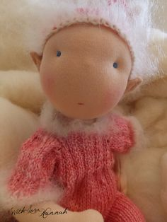 Custom Waldorf Inspired Pixie Fairy or Elf Baby Doll - 12 inches - Organic Cotton -. $75.00, via Etsy.