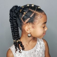 Some hairstyle inspiration for y'all! Super cute and easy! Cute Little Girl Hairstyles, Black Kids Hairstyles, Natural Hairstyles For Kids, Baby Girl Hairstyles, Kids Braided Hairstyles, Natural Hair Styles, Children Hairstyles, Sweet Hairstyles, Teenage Hairstyles
