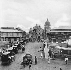 Binondo Church, Manila, Philippines, Late or early century Vintage Pictures, Old Pictures, Old Photos, Philippines Culture, Manila Philippines, Philippine Architecture, Noli Me Tangere, Philippine Art, Filipino Culture