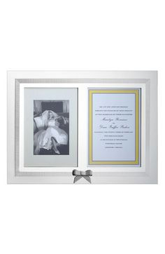 Savor the memory :) kate spade new york 'grace avenue' double invitation frame available at #Nordstrom #Nordstromweddings