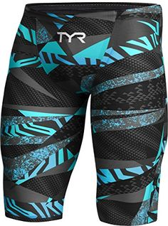 TYR Men's Avictor Prelude High Jammer, Black/Blue - 22 *** Clicking on the VISIT button will lead you to find similar swimwear Suit Guide, Racing Swimsuits, Swim Mom, Man Swimming, Sport Pants, Cycling Outfit, Sport Wear, Mens Fitness, Sport Outfits
