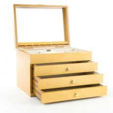 Mele & Co 'Britney' Beech Collection Large Jewellery Box