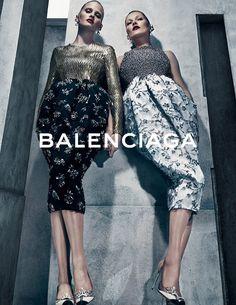 Kate Moss x Lara Stone for Balenciaga Fall-Winter 2015 (Campaign)