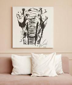 Elephant Poster | Digital Line Art Print | Animal Lover Christmas Gift Idea