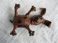 Dead Dog Polymer Clay Sculpture by mirandascritters on Etsy, $20.00