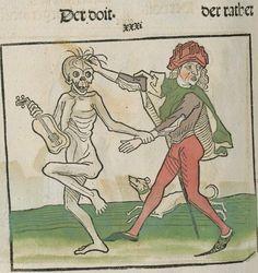 Der doten dantz mit figuren, clage vnd antwort schon von allen staten der werlt [Heidelberg] : [Heinrich Knoblochtzer], [nicht nach 1488] Ink T-398 / Im.mort. 1 Folio 41