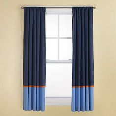 Attractive curtains that will grow with baby.  We are decorating with mostly neutral tones, but I'd like to add a few pops of blue here and there to keep things from becoming too boring.
