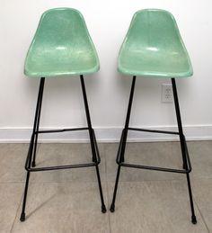 Vintage Pair Mid Century Modern Wrought Iron Atomic Age