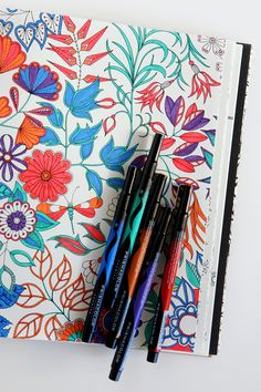 Loving my new @pinprismacolor markers from @michaelsstores - be sure to check out @michaelsstores coupons for additional savings, in newspapers and online! #relaxandcolor #ColoringwithMichaels #PMedia #ad