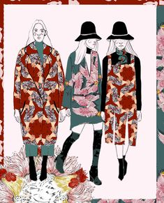 Aves Capitalinas: Fashion Illustrations by Luisa Castellanos