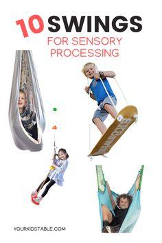 Top 10 Sensory Swings for Kid's Development and Sensory Processing Child Development Activities, Development Milestones, Language Development, Sensory Swing, Sensory Toys, Sensory Diet, Calming Activities, Sensory Activities, Family Activities