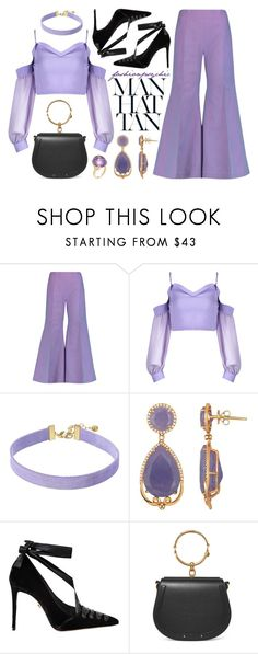 """""""Purple"""" by fashionpsychic ❤ liked on Polyvore featuring Acne Studios, Vanessa Mooney, Le Silla, Chloé and Goshwara"""