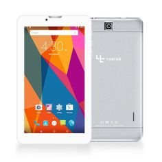 """Hot Sale!!Yuntab E706 7""""Alloy tablet PC Android 5.1 Quad Core 3G unlocked smartphone with dual camera Bluetooth4.0(silver)"""