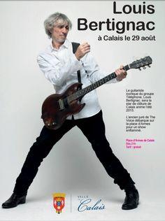 Concert gratuit de fin d'été sur la place d'Armes à Calais : Louis Bertignac !