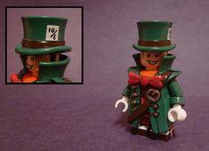 Custom LEGO Minifigure of the Week - Mad Hatter by TheMooseFigs #LEGO #BrickWarriors #Minifigure #AliceInWonderland #ThroughTheLookingGlass #Batman #DCComics #LEGOaccessories #MinifigureAccessoriesppp Lego Batman, Lego Dc, Lego Marvel, Lego Custom Minifigures, Lego Guns, Lego Boards, Lego Figures, Lego Models, Custom Lego