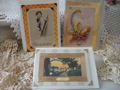 Handmade Card  18th & 19th Century Victorian by VintageRedo