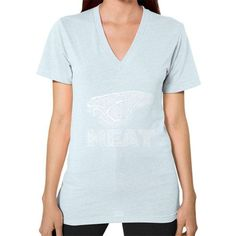 1st Edition Cookout MEAT V-Neck (on woman)