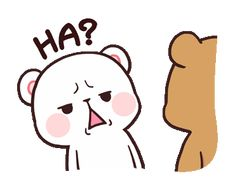 LINE Official Stickers - Milk & Mocha: Unstoppable Lovers Example with GIF Animation Cute Bunny Cartoon, Cute Cartoon Images, Cute Kawaii Animals, Cute Couple Cartoon, Cute Love Cartoons, Cartoon Pics, Cute Cartoon Wallpapers, Cute Bear Drawings, Funny Drawings