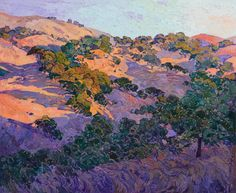 """Saatchi Art Artist Erin Hanson; Painting, """"Napa Oaks"""" #art"""