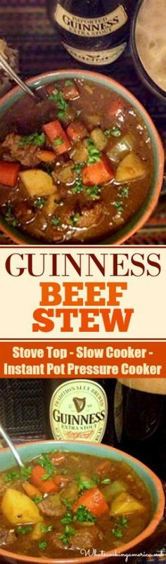 Cajun Delicacies Is A Lot More Than Just Yet Another Food Stove Top - Slow Cooker - Instant Pot Pressure Cooker Instructions Instant Pot Pressure Cooker, Pressure Cooker Recipes, Beef Stew Stove Top, Beef Recipes, Cooking Recipes, Irish Recipes, Soup Recipes, Guinness Beef Stew, A Table