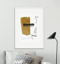 A Large abstract with dark Ochre and white acrylics. A modern Printable Abstract Painting. Titled Afternoon This is part of my new Minimal Collection. This is a Printable High-res JPEG. Carefully Hand-painted using acrylics on heavy paper. Signed. ➤ ITEM DETAILS Super amazing value
