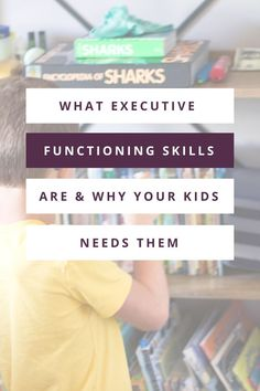 In this post, I giving you an overview of the 7 main executive functioning skills, what they are, and why your kids need them. #organizedkids #lifeskills Small Playroom, Toddler Playroom, Emotional Regulation, Self Regulation, Positive Self Talk, Positive Words, Working Memory, Executive Functioning, Playroom Organization