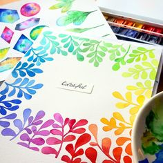 #colorful #art #watercolor #illustration #art #color #flower #painting #floral my experiments with watercolor