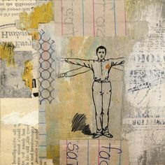 A Collage A Day: Phantom Limb collage by Randel Plowman