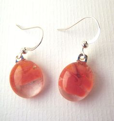 Handmade glass fusion earringsPunk pink by LikeYourJunk on Etsy, $15.00