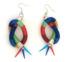 Statement Thread Wrapped Earrings Rope Statement by KiaFilStudios, $33.00