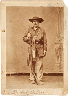 """William Alexander Anderson """"Bigfoot"""" Wallace, """"famous veteran of the Texas War of Independence and the Mexican War, Indian fighter, and Texas Ranger """"Bigfoot"""" Wallace."""""""
