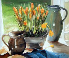 """Reproduction sur toile """"Les crocus"""" Site: http://www.lysandcreations.com/boutique/liste_rayons.cfm?"""