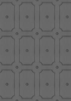 Georgian Dot Panelling Wallpaper - Medium Grey - Lime Lace