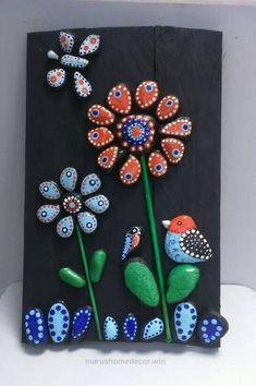 Terrific Pebble Art, Flowers, Romantic gift, Stone Art, New home housewarming gift, Beach Stone Artwork, Unique Home Decor, Wall Art,Nature The post Pebble Art, Flowers, Romantic gif ..