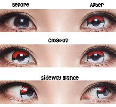 Cosplay Cosplay Pokemon Contacts Before After - This lens will be restock in 50 steps power only! Cosplay Contacts, Cosplay Makeup, Halloween Cosplay, Cosplay Costumes, Pokemon Tumblr, Eye Color Chart, Cosplay Pokemon, Anime Black Hair, Halloween Contacts