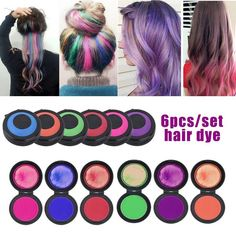 Cacat Reusable Portable Fast Hair Dye Set 6 Colors Temporary Modeling Fashion DIY Hair Color Wax Mud** Visit the image link more details. (This is an affiliate link) Hair Chalk, Hair Wax, Temporary Hair Dye, Christmas Birthday Party, Hair Powder, Color Crayons, Blond, Hair Pulling, Coconut Oil