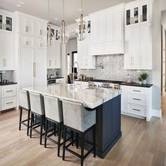 Home Remodel White Cabinets .Home Remodel White Cabinets Home Decor Kitchen, Kitchen Furniture, Kitchen Interior, New Kitchen, Home Kitchens, Kitchen Black, Bedroom Furniture, White Kichen, White Marble Kitchen
