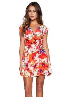 Yumi Kim Soho Mixer Dress in Vemillon Bloom in Vermillion Bloom | REVOLVE