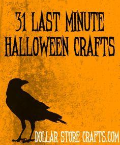 31 last minute halloween crafts