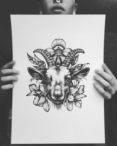 """354 Likes, 18 Comments - Távia Jucksch (@tavia.jucksch) on Instagram: """"Fiz alguns desenhos que estou disponibilizando para tatuar. Gostaria de fazer essa cabra no peito,…"""""""
