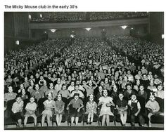 The Micky Mouse club on the early 30's.  Interesting historical photos {Part 15}