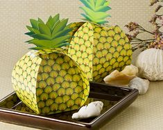 "Favor Box Pineapple ""Tropical Treats"" For Beach Wedding or Tropical Destination Wedding. www.ceceliasbestwishes.com"