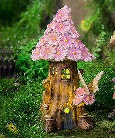 Pink Spring Petals Light-Up Fairy House Garden Décor | zulily